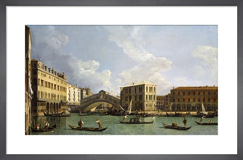 View of the Rialto Bridge from the North by Giovanni Canaletto