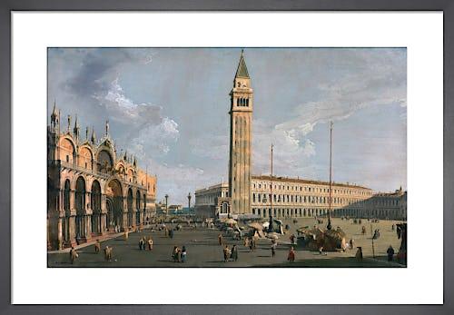 The Piazza di San Marco Venice by Giovanni Canaletto