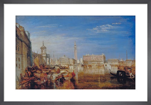 Bridge of Sighs, Ducal Palace and Custom-House, Venice: Canaletti Painting, exhibited 1833 by Joseph Mallord William Turner