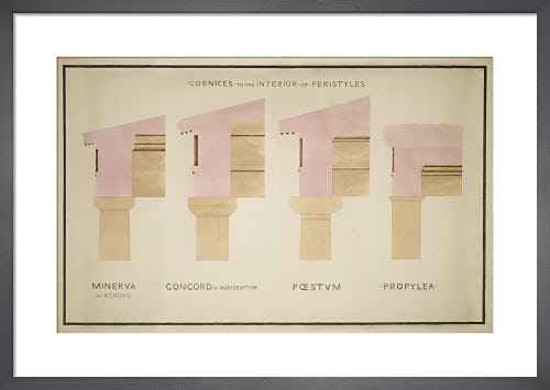 Cornices of peristyles of Greek buildings by The Soane Office