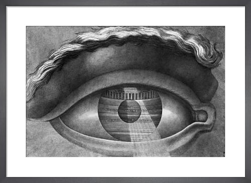 The interior of the theatre at Besancon reflected in the pupil of an eye 1804 by Claude Nicolas Ledoux
