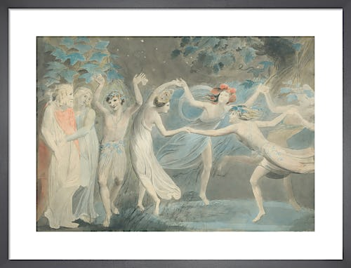Oberon, Titania and Puck with Fairies Dancing, c.1786 by William Blake