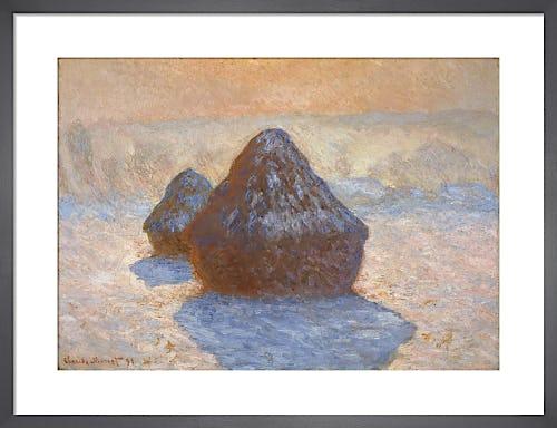 Haystacks: Snow Effect by Claude Monet