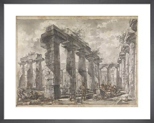 Paestum Italy Interior of the Basilica from the South by Giovanni Battista Piranesi
