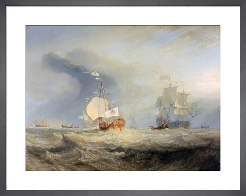 Admiral von Tromp's Barge at the Entrance of the Texel 1645 by Joseph Mallord William Turner