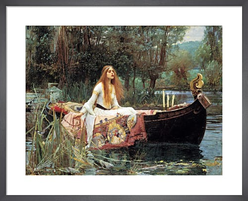 Lady of Shalott, 1888 by John William Waterhouse
