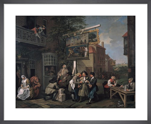 Humours of an Election II: Canvassing for Votes by William Hogarth