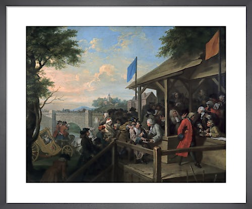 Humours of an Election III: The Polling by William Hogarth