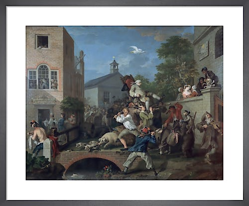 Humours of an Election IV: Chairing the Member by William Hogarth