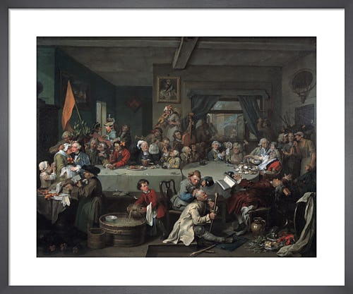 Humours of an Election I: An Election Entertainment by William Hogarth