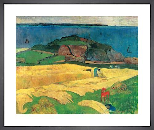Harvest: Le Pouldu, 1890 by Paul Gauguin