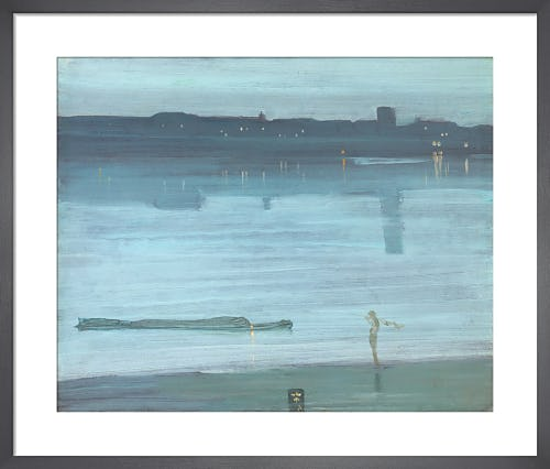 Nocturne: Blue and Silver - Chelsea, 1871 by James Abbot McNeill Whistler