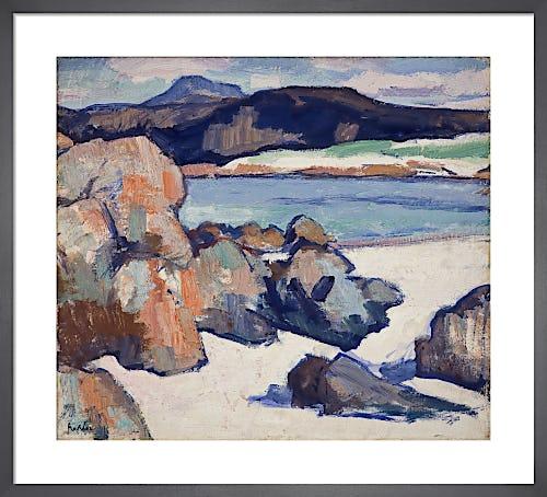 Iona Landscape: Rocks by Samuel John Peploe