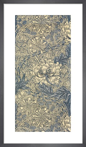 Honeysuckle (Blue) furnishing fabric, 1876 by William Morris