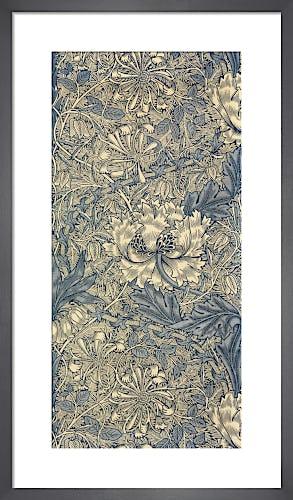 Honeysuckle (Blue) furnishing fabric, 1876 by William Morris