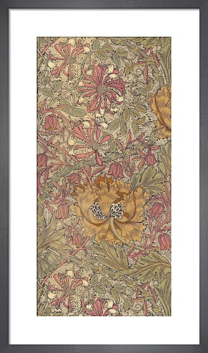 Honeysuckle furnishing fabric, 1876 by William Morris