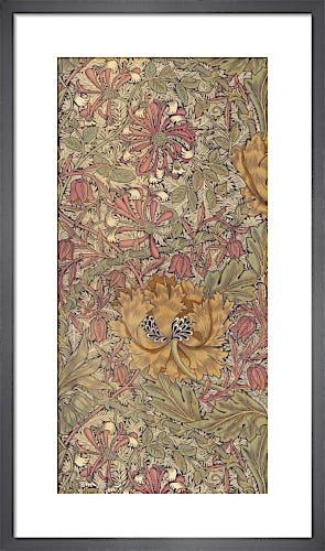 Honeysuckle furnishing fabric, 1876 by William Morris
