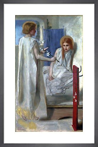 Ecce Ancilla Domini! ('The Annunciation'), 1849-50 by Dante Gabriel Rossetti