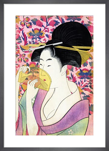 Kushi (Comb), c.1780s by Kitagawa Utamaro I
