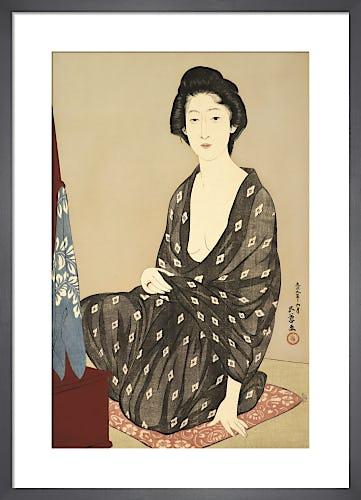 Woman in Summer Kimono, 1920 by Goyo Hashguchi