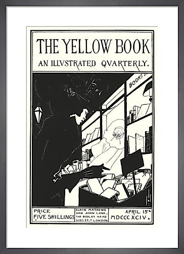 Design for cover of 'The Yellow Book' prospectus by Aubrey Beardsley