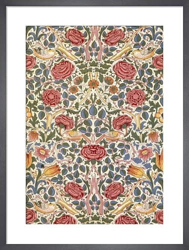 Rose furnishing fabric, 1883 by William Morris