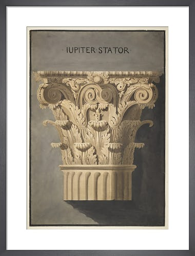 Rome Temple of Jupiter Stator Corinthian order capital by The Soane Office