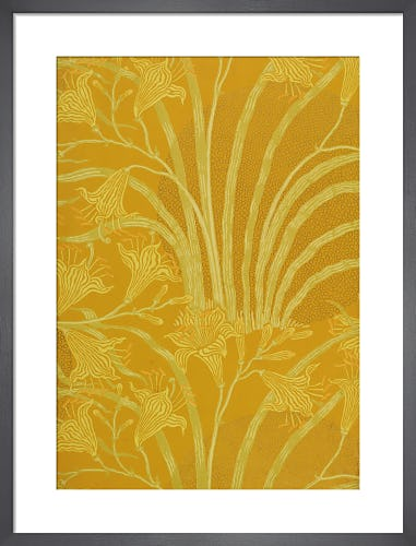 Day Lily wallpaper (Yellow), England, 1897 by Walter Crane