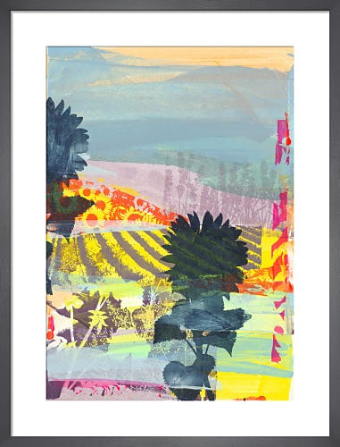 Lavender Landscape by Adeline Meilliez
