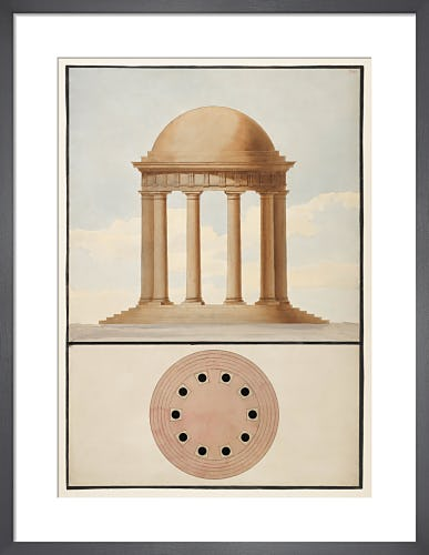 The Doric order: Plan & elevation of a monopteral temple by The Soane Office