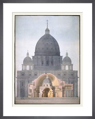 St Peter's Basilica Rome the Pantheon Rome the Radcliffe Library Oxford and the Rotunda Bank of England by The Soane Office
