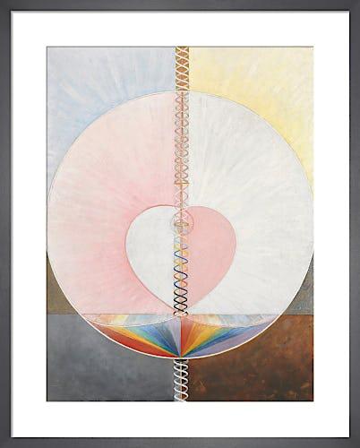 Group IX/UW, No. 25, The Dove, No. 1, 1915. by Hilma af Klint