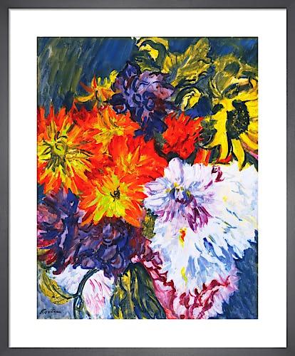 Dahlias and Sunflower, c.1936 by Sir Jacob Epstein