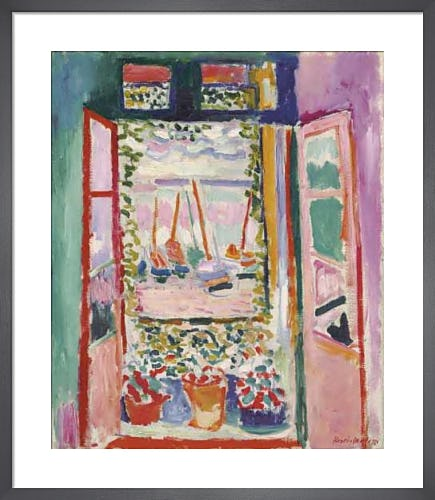 The Open Window, Collioure, 1905 by Henri Matisse