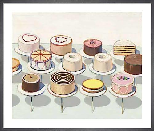 Cakes, 1963 by Wayne Thiebaud
