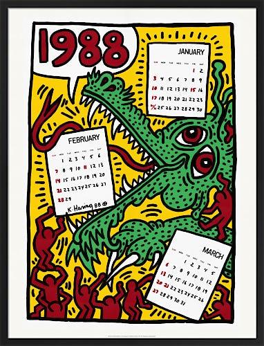 Pop Shop Calendar 1988 by Keith Haring