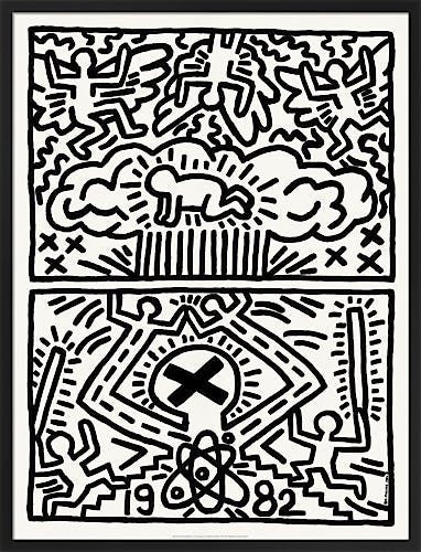Poster for Nuclear Disarmament 1982 by Keith Haring