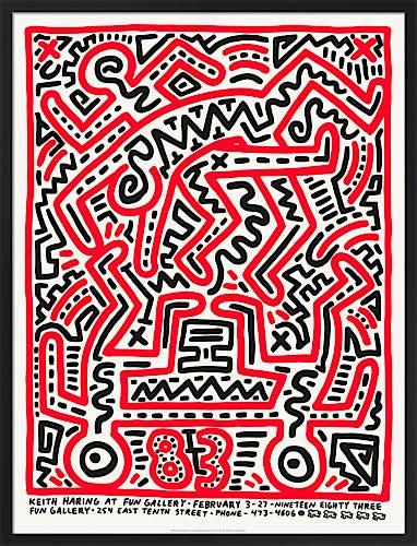 Keith Haring at Fun Gallery 1983 by Keith Haring