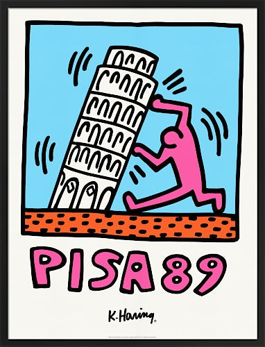Pisa 89 by Keith Haring