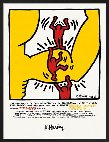 Sixth Annual Rikers Island Olympics 1988 by Keith Haring