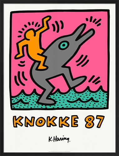 Casino Knokke 87 by Keith Haring