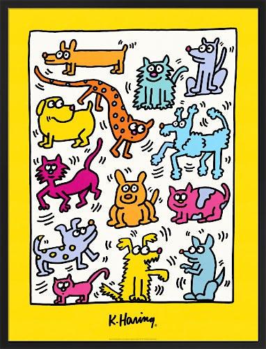 The Humane Society of Broward County 1987 by Keith Haring