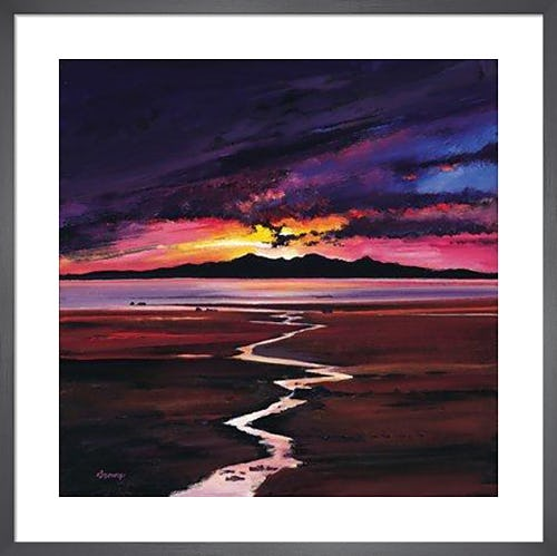Sunset over Arran by Davy Brown
