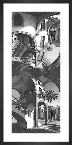 High and Low by M.C. Escher