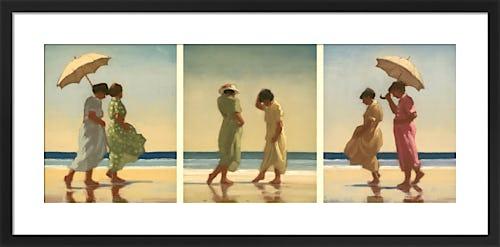 Summer Days Triptych by Jack Vettriano