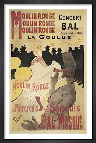 Moulin Rouge: La Goulue (small) by Henri de Toulouse-Lautrec