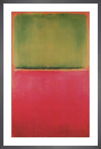 Green Red on Orange by Mark Rothko