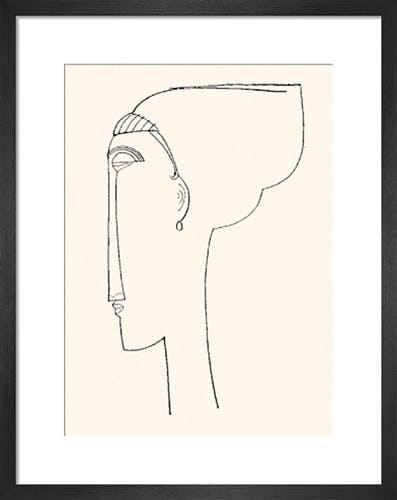 Profile Of A Head by Amedeo Modigliani
