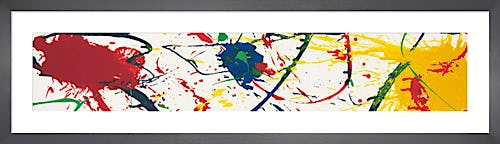 No brush 1987 by Sam Francis