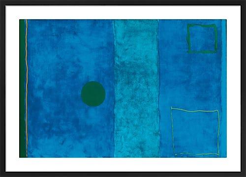 Blue painting by Patrick Heron